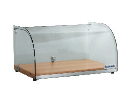 Exquisite CD25 One Tier Curved Glass Ambient Cake Display - Oak