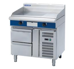 Blue Seal Evolution Series EP516-RB 900mm Electric Griddle Refrigerated Base