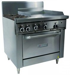 Garland 900mm WIDE RESTAURANT SERIES 2 BURNERCOMBINATION RANGE WITH CONVECTION OVEN (NG & LP) GFE36-2G24C
