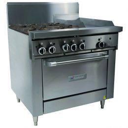 Garland 900mm WIDE RESTAURANT SERIES 4 BURNERCOMBINATION RANGE WITH CONVECTION OVEN(NG & LP) GFE36-4G12C