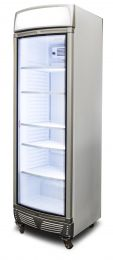 Bromic Upright Display Fridge with Lightbox Curved Glass Door 380L GM0400LC