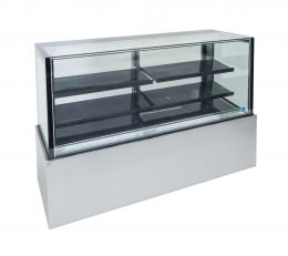 Topaz Cake Display - 1800Mm Two Tier (Plus Base) Free Standing Refrigerated Cake Display