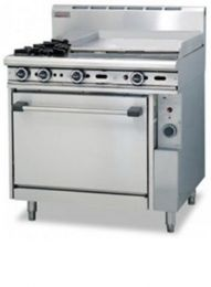 Trueheat RCR9-2-6G: oven with two open top burner and 600mm griddle (NG or LP gas)