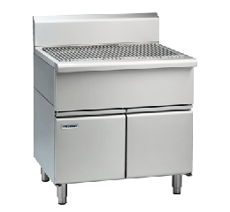 Waldorf 800 Series SF8900-CD - 900mm Solid Fuel Grill - 215mm Splashback Version - Cabinet Base with Doors