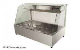 WOODSON 2 Module Curved Glass Hot Food Display - W.HFC22